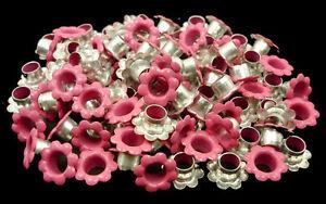 100pcs Pink Flowers EYELETS Scrapbooking CARD Hole LeatherCraft Punch Kit E093