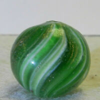 #10961m Vintage German Handmade Onionskin Lutz Marble .72 Inches *Near Mint*