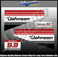 JOHNSON - 9.9 hp - DECAL SET - OUTBOARD  DECALS