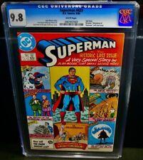 CGC 9.8 1986 SUPERMAN Comic Book #423 D.C. Comics, 9/86 Bronze Age Comic Books