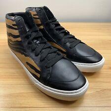 COACH Men's Leather Fashion Sneakers Size 13 Black/Tan Tiger Print G1386