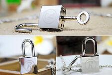 Anime NANA Ren Lock + Key Necklace Cosplay Ai Yazawa Lovers Couples Jewelry Gift