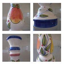 4 Squares Ceramics Pop Delicate Art Deco Collage Photo Glass Metal Pn Original