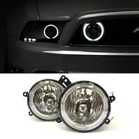 05 06 07 08 09 Ford Mustang GT Hood Grille Clear Halo Fog Lights Lamps Pair New