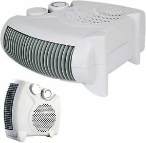 Electric Fan Heater 2KW 2000 W Portable SILENT Floor or Upright Hot & Cold Air