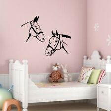 TWO HORSE HEADS vinyl wall decals bedroom living room wall stickers