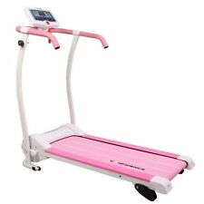 CONFIDENCE POWER TRAC PRO MOTORISED ELECTRIC TREADMILL RUNNING MACHINE PINK
