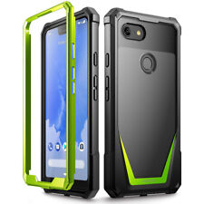 Poetic Guardian Rugged Clear Hybrid Bumper Case Green for Google Pixel 3 XL