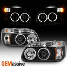 Fits 95-01 Explorer Halo Projector Black Headlights W/Built In Corner Signal