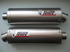 MIVV Stainless Oval Twin Slip-ons for Ducati Monster 620, 800, 1000, & S4