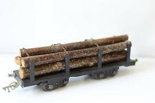 JEP wagon plat à bogies chargés de troncs d'arbres