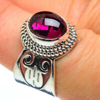 Garnet 925 Sterling Silver Ring Size 7.25 Ana Co Jewelry R45585F