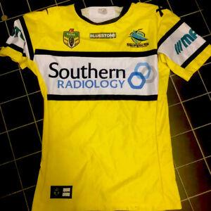 Cronulla Sharks Game Issue Players Jersey Match Gps  Nrl Hi Vis NSW Origin Qld
