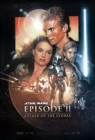 Star Wars Episodio II - Ataque Of The Clones (una Cara) Original Película Póster