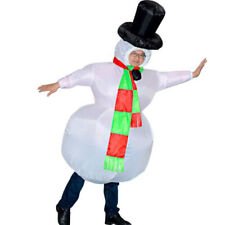 Snowman Costume Inflatable Mascot Costumes Halloween Christmas Party Clothing