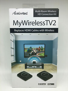 New Actiontec MWTV2KIT01 MyWirelessTV2 Video Transmitter and Receiver - Black