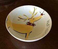 Pottery Barn REINDEER Rudolph Nesting / Serving Bowl