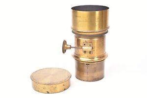 Lens IN Brass Type Petzval Alexis Millet. Circa 1855. #2457