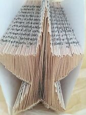 Book Folding PATTERN  create your own Christmas star folded book art