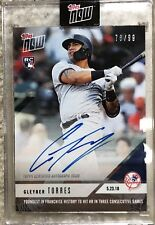 Gleyber Torres autograph Topps Now Yankees Youngest to hit 3 HR On-Card auto /99