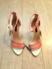 ZARA Women's High Heel Strappy Sandal(Multicolor, US 6,  8/EUR 36,  39)