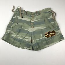 Harajuku Lovers Womens Shorts Size Small Cuff Faded Camo Army  Our Love Is Real