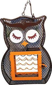 Owl Dual Suet & Seed Bird Feeder