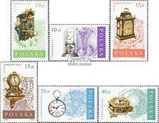 Polen 3142-3147 gestempeld 1988 Oud Horloges