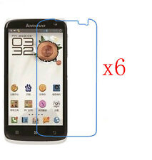 6 x New Clear LCD Front Screen Protective Protector Guard Film for Lenovo S820