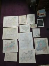 1797 onwards COLLECTION OF 13 MAPS SURREY KENT CUMBERLAND CARY DUGDALE WALKER