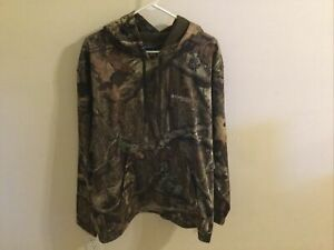 Columbia PFG Camo Hoodie Mossy Oak Break-up Infinity Sweatshirt Men's Size XXL