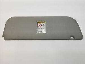 Ford Van 09-18 Sun Visor E150/E250/E350, Grey Vinyl, OEM New Passenger Side Gray