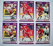 1991-92 Detroit Red Wings Partial Team Set Lot (2 Lots, 14 Cards Each) NM