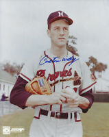 1958 BRAVES Carlton Willey signed 8x10 photo AUTO Milwaukee (D) Autographed