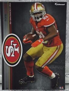 """Frank Gore 3 Fathead San Fransico 49ers NFL 7"""" Decal Miami Dolphins Hurricanes X"""