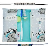 XXL Windeltasche mit Name Wickeltasche Junge Geburt Baby unterwegs It´s a boy