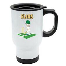 Elias - Cricket Travel Mug - Personalised Gift For - Ashes, Hobby
