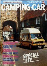 """Revue """"CAMPING-CAR"""" n° 3 (1985) voir scan du sommaire détaillé à l'intérieur"""