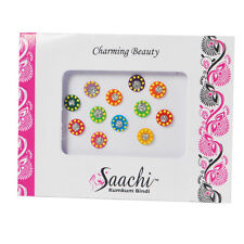 Bindis Bindi Multi Pack Of 1 Round Diamond Crystal Colourful Dots Indian Tattoo