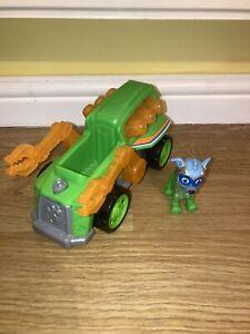 Paw Patrol bundle super paws mighty pups Rocky figure + light up vehicle Bundle