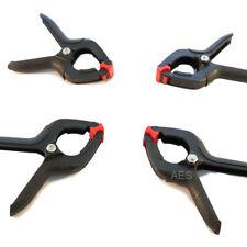 """Toolzone 4Pc 3.5"""" Black Micro Plastic Clamps"""