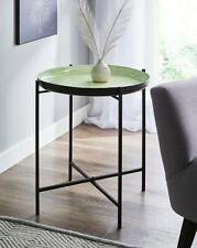 Metal Folding Side End Coffee Table Gloss Paint Design Living Room Home Décor