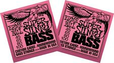 2 x Packs  ERNIE BALL SLINKY ELECTRIC BASS GUITAR STRINGS  SUPER 45 - 100