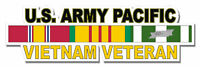 "U.S. Army Pacific Vietnam Veteran 5.5"" Window Sticker 'Officially Licensed'"