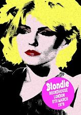 BLONDIE - CONCERT POSTER ROUNDHOUSE LONDON 5th MARCH 1978 (A3SIZE) DEBBIE HARRY