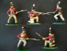 FIVE NICELY PAINTED 54MM NAPOLEONIC BRITISH LINE INFANTRY  Lot 4