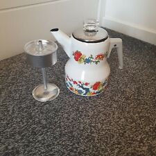 More details for bfb w.germany mid century bavarian white floral coffee pot thermomatic bottom