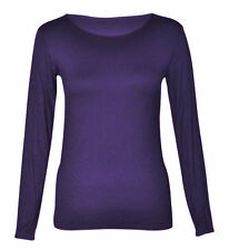 Women's No Pattern Fitted Hip Length Crew Neck Tops & Shirts