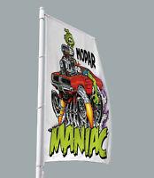 Mopar Dodge Flag Rat Fink 3/'x5/' Hot Rod Style American Muscle Garage Horizontal