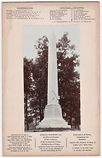 RARE 1903 Photo GAR Civil War Monument Dedicatn  1st NY Dragoons Letchworth Park